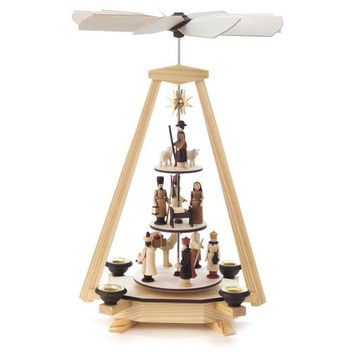 3 Level Nativity Star German Pyramid