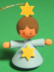 Angel Child Ornament Blue