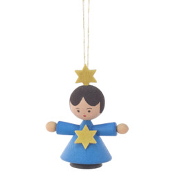 Angel Child Ornament Dark Blue