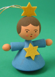 Angel Child Ornament Dark Blue