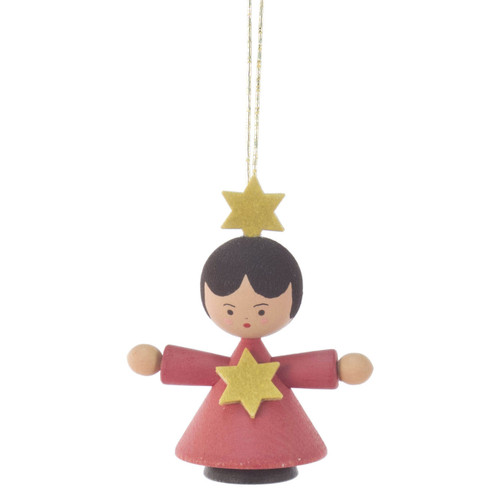 Angel Child Ornament Red