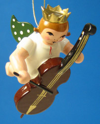 Bass Angel Crown Christmas Ornament