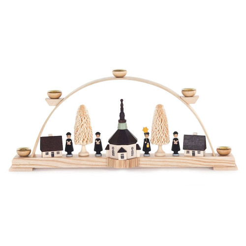Carolers Village German Schwibbogen Candle Arch CHD202X038B