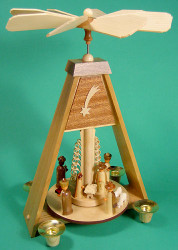 Christmas Carousel Pyramid Nativity