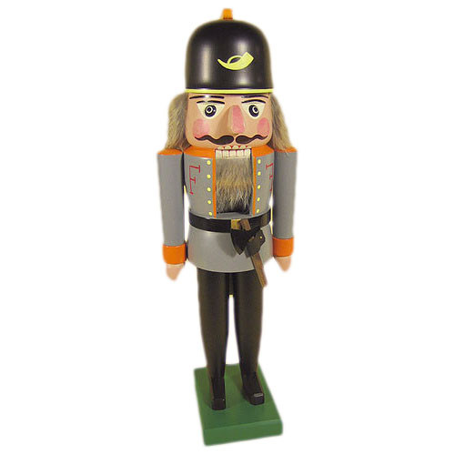 Dandy Grey Fireman German Nutcracker