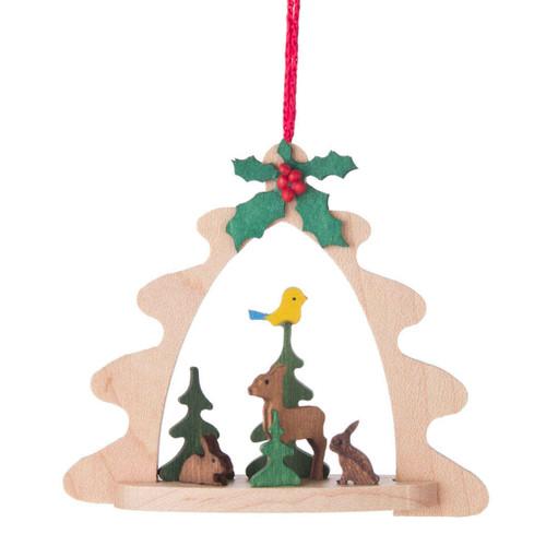 Deer Birds Tree Frame Ornament