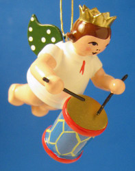 Drum Angel Crown Christmas Ornament