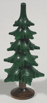 Green Tree Wood Figurine Trunk Five Levels