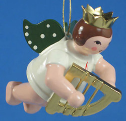 Harp Angel Christmas Ornament