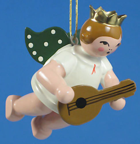 Mandolin Angel Christmas Ornament