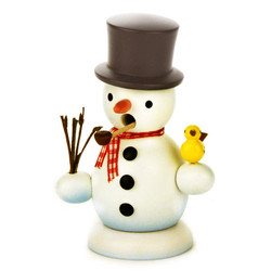 Mini Snowman Incense German Smoker Black