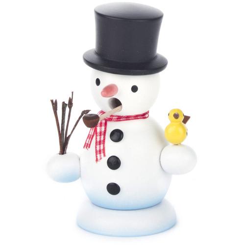 Mini Snowman Incense German Smoker Black