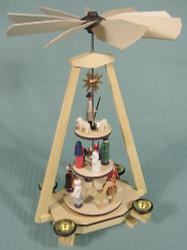 Nativity Christmas German Pyramid 3 Level