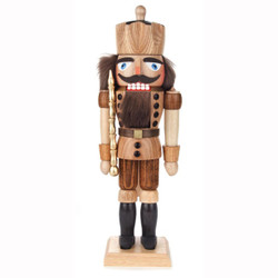 Natural Wood King German Nutcracker NCD024X018N