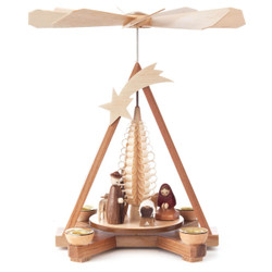 Nativity Christmas German Pyramid Shooting Star