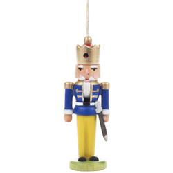Nutcracker German King Ornament Blue Coat ORD074X026FB
