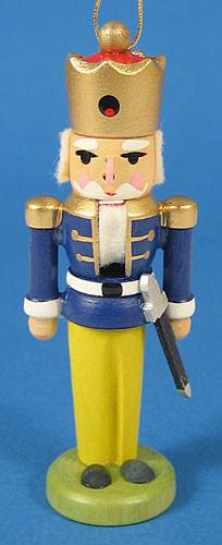 Nutcracker Ornament Blue Coat