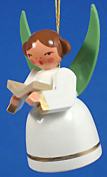 Ornament White Angel Singing