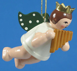 Panpipe Angel Christmas Ornament