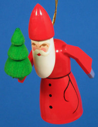 Santa Carrying Tree Ornament