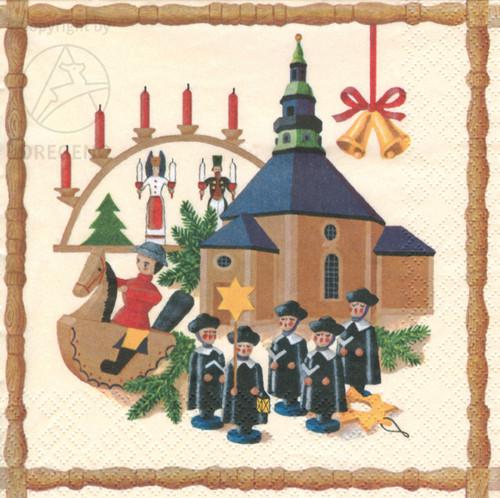 Seiffen Church Carolers German Napkins NPD042X050