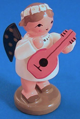 Angel German Figurine Mandolin