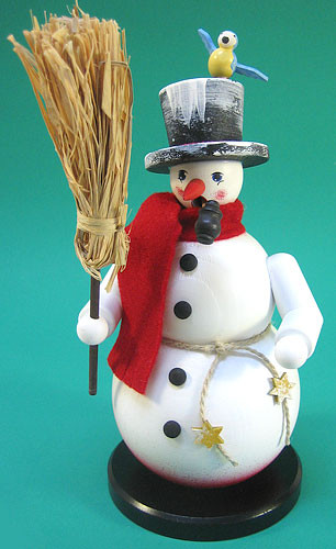 Snowman Broom Bird German Smoker