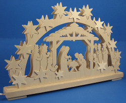 Star Nativity Schwibbogen Arch