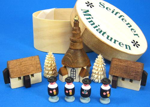 Village Church Figurine Set
