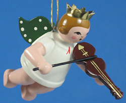 Violin Angel Christmas Ornament