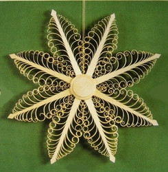 Wooden Star Scene Ornament