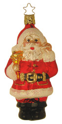 Santa Ringing Bell Ornament
