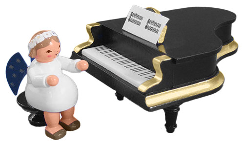 Angel Figurine at Grand Piano