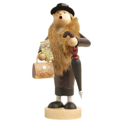 Travelling Lady German Incense Smoker Sightseeing