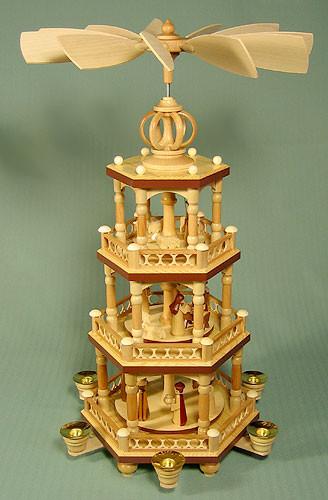 4 Level Infinity Dome Christmas Pyramid
