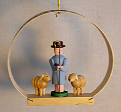 Shepherd Sheep Arch Christmas Ornament