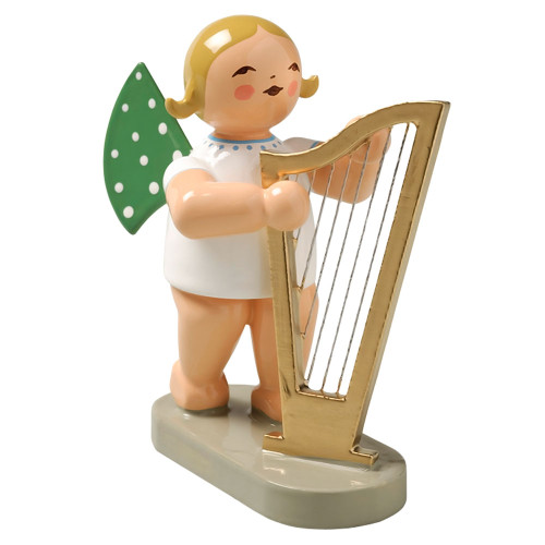 Wendt Kuhn Blonde Angel Large Harp Figurine FGW650X14