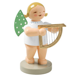 Blonde Angel Small Harp Wendt Kuhn Figurine FGW650X14B