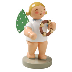 Blonde Angel Headless Tambourine Figurine Wendt Kuhn FGW650X57