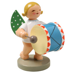 Blonde Angel Little Bass Drum Figurine Wendt Kuhn FGW650X9
