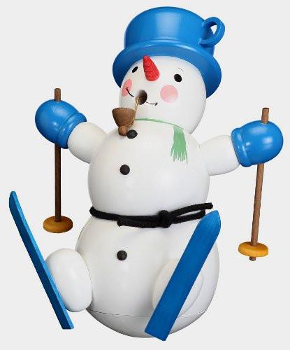 Holiday Snowman Ski Incense German Smoker