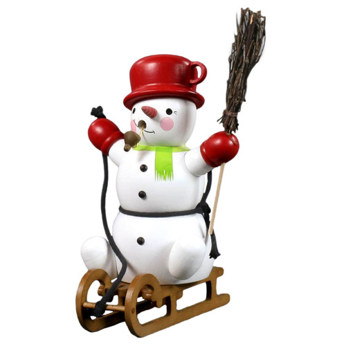 Snowy Snowman Incense German Smoker