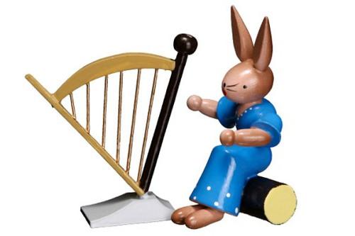 Bunny Playing Harp