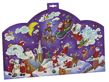 Fill Candies Santas Clouds Advent Calendar