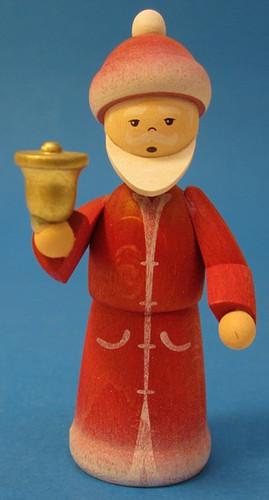 Wooden Santa Figurine