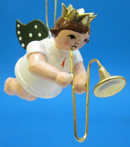 Trombone Angel Christmas Ornament
