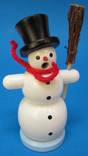 Mini White Hat Snowman Incense German Smoker