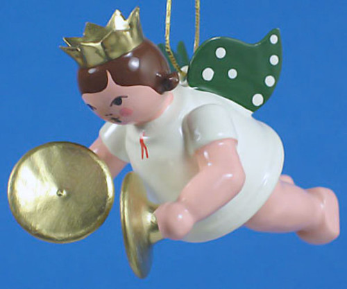 Cymbals Angel Christmas Hanging German Ornament