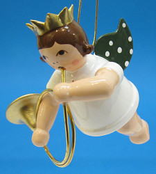 Hunting Horn Angel Christmas Hanging Ornament ORD002X28416HH