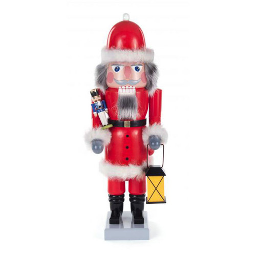 German Wooden Nutcracker Santa